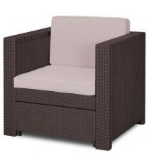 Кресло Прованс коричневый серо бежевый Keter 17189413
