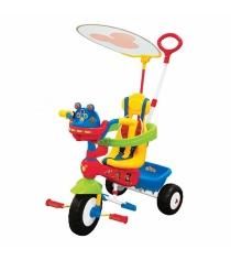 Велосипед Kiddieland трехколесный Микки Маус с ручкой KID 043646