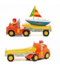 Развивающая игрушка Kiddieland Трейлер с яхтой без мотора KID 047928.1