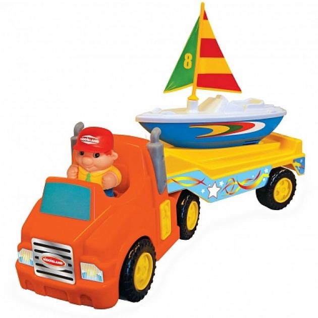Развивающая игрушка Kiddieland Трейлер с яхтой KID 047928