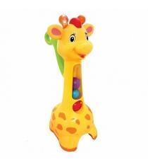 Каталка с ручкой Kiddieland Жираф c шарами KID 052365