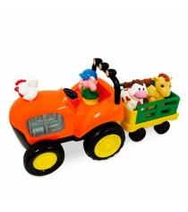 Игровой развивающий центр Kiddieland Трактор фермера с животными KID 052746