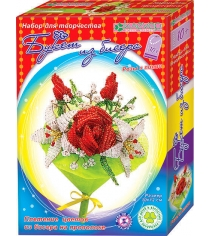 Набор для творчества букет из бисера розы и лилии Клеvер АА 42-620
