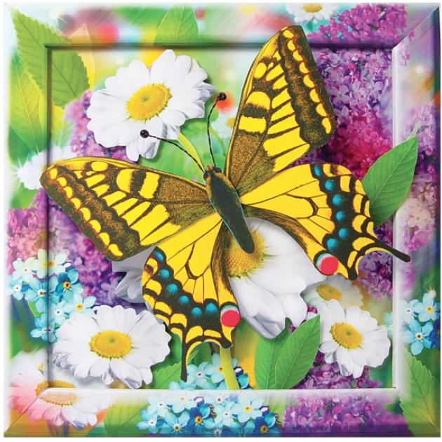 Набор для создания аппликации золотистая бабочка Клеvер Р38360
