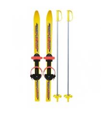 Лыжи детские вираж спорт с креплениями палками Ковров 7085-00
