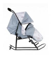 Санки коляска Kristy Luxe серый олени серый