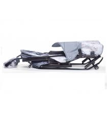 Санки коляска Kristy Luxe Comfort Plus серый олени серый