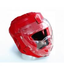 Шлем для рукопашного боя Leco Pro красная размер M гп005212