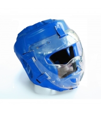 Шлем для рукопашного боя Leco Pro синяя размер S гп005215