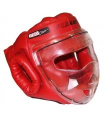 Шлем для рукопашного боя Leco Pro красная размер S гп5-01