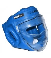 Шлем для рукопашного боя Leco Pro синяя размер S гп5-09