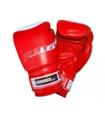 Перчатки боксерские Leco Premium Pro красные 8 унций т00201