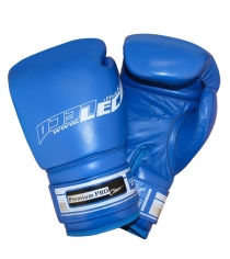 Перчатки боксерские Leco 12 унций синие Premium Pro т00211