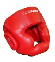Шлем боксерский Leco красный размер L т005003