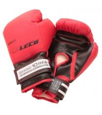 Перчатки боксерские Leco красные 10 унций т007-5