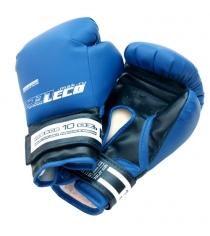 Перчатки боксерские Leco синие 10 унций т007-6