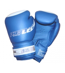 Перчатки боксерские Leco Pro синие 8 унций т8-2