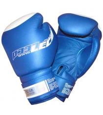 Перчатки боксерские Leco Pro синие 10 унций т8-4