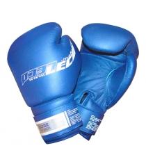Перчатки боксерские Leco Pro синие 12 унций т8-6