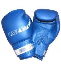 Перчатки боксерские Leco Pro синие 16 унций т8-8