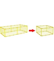 Дополнительная сетка для манежа Leco 125х125 гп230142