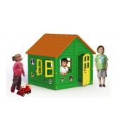 Домик Leco зелено-оранжевый 120х120 см гп232003