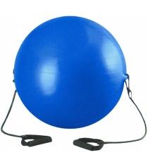 Мяч гимнастический Leco с эспандером 85 см т12325