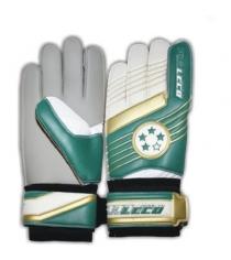Перчатки футбольные вратарские Leco 4 звезды размер S т131021
