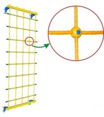 Веревочная сетка настенная Leco It 75 см гп030947