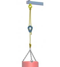 Подвесная система Leco на ДСК для боксерского мешка до 15 кг гп030978