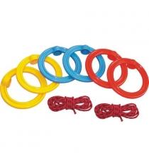 Кольца гимнастические детские Leco с подвесной системой гп3072
