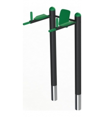 Брусья Workout Leco со спинкой и подлокотниками 1,5 м гп061155