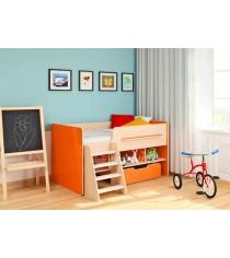 Кровать чердак 6 Легенда цвет: венге светлый оранж
