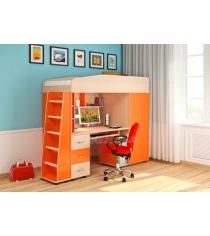 Кровать чердак 1 Легенда цвет: венге светлый оранж