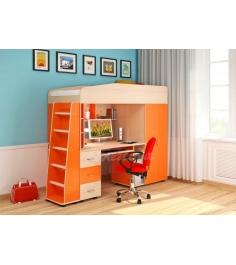 Кровать чердак 1 Легенда цвет: венге светлый оранж...