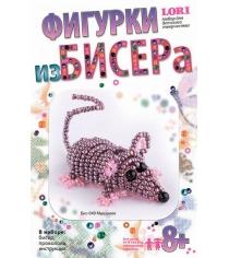 Набор для плетения из бисера мышонок Lori Бис-049