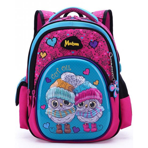 baa95c67f178 Рюкзак школьный Maksimm совушки фуксия C305-1 — купить по лучшей ...