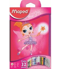 Пенал с наполнением Maped 967812 fairy