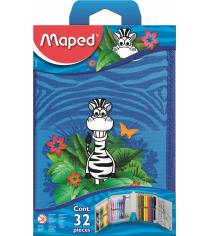 Пенал с наполнением Maped 967814 jungle