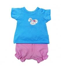 Одежда для куклы Mary Poppins 38 43см футболка и шорты Зайка 201