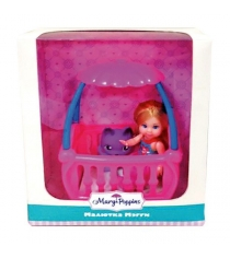 Кукла Mary Poppins Мегги с кроваткой 9см 451178