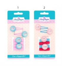 Заколки и резинки для волос Mary Poppins зайка 6 предметов 455087