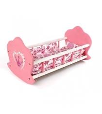 Кроватка Mary Poppins люлька деревянная Корона 51х30х25см 67115