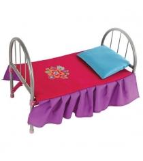 Кроватка для кукол мет Цветочек 46х27х32см Mary Poppins 67126