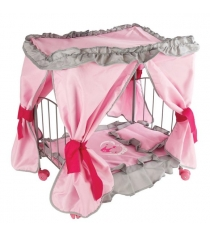Кровать Mary Poppins дкукол с балдахином Корона 47х31х53см 67215