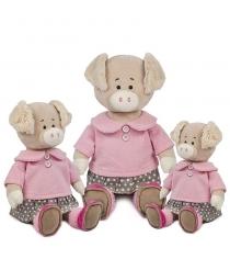 Мягкая игрушка свинка вероника в платье 28 см Maxitoys MT-MRT031814-28