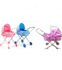 Классическая коляска для кукол цветочки Melogo Д6459