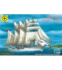 Модель корабль баркентина эсмеральда 1:350 Моделист 135039
