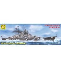 Модель линкор бисмарк 1:800 Моделист 180079