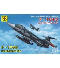 Модель сверхзвуковой истребитель f 104g старфайтер 1:72 Моделист 207201
